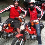 Matching 1982 Honda CT 110's My friend Cep and the Prince, Alaxander Smith, Malcolm's son.
