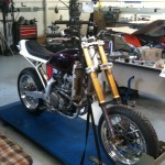 2001 Honda XR 650 R Going to Super Moto. Bored and stroked to 750 by Bret Leaf.